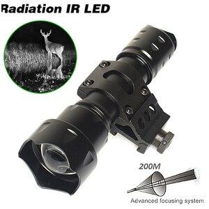 Image 1 - 10W IR 850nm LED IR LED פנס לפיד ארוך טווח אינפרא אדום ציד אור ראיית לילה לפיד בהר לחץ מתג אקדח הר