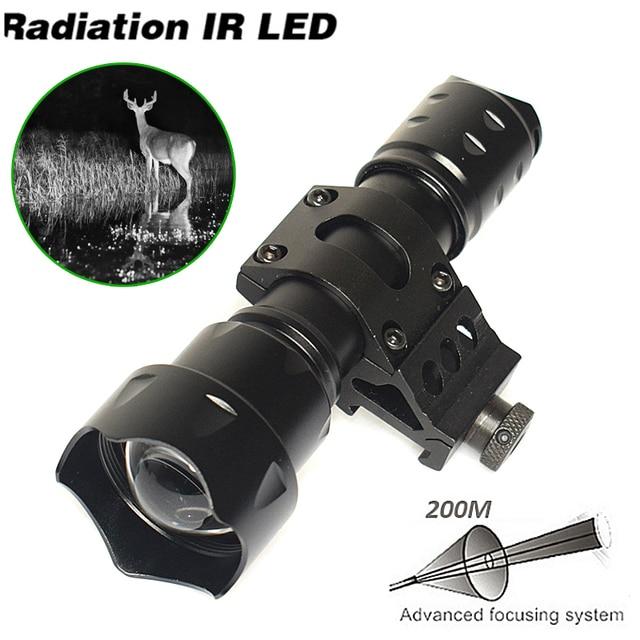 10W IR 850nm LED IR LED פנס לפיד ארוך טווח אינפרא אדום ציד אור ראיית לילה לפיד בהר לחץ מתג אקדח הר