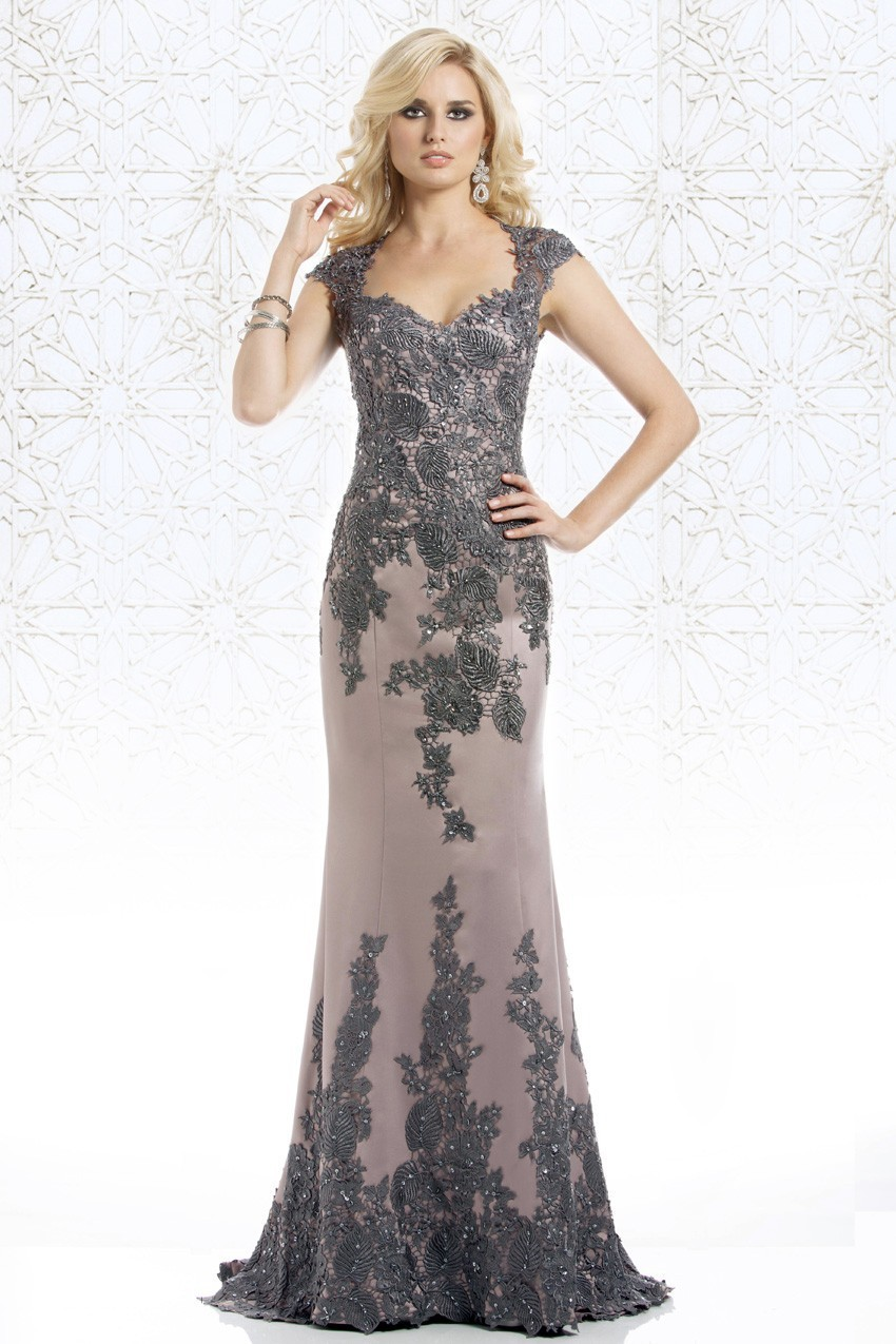 Cap Sleeves Mother Of The Bride Dresses Mermaid Appliques Lace Beaded Plus Size Long Groom Mother Dresses For Wedding