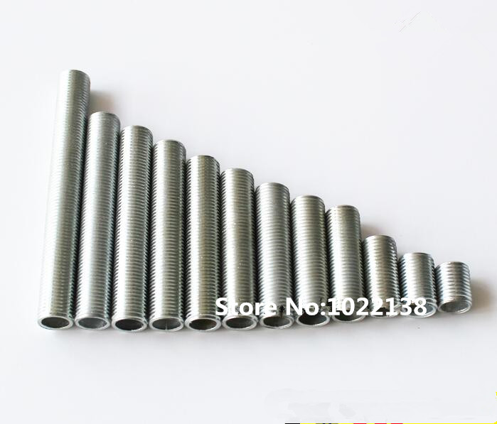 10Pieces M10 Nipple Joint Metal Threaded Tube Screw Pipe For DIY Lights Accessories