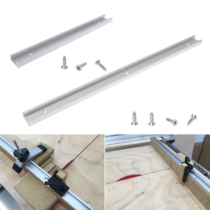 Aluminium Alloy T-track Woodworking T-slot Miter Track Jig Fixture Router Table