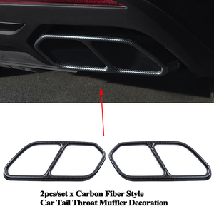 Image 5 - 2pcs/set Rear Car Exhaust Tail Throat Muffler Decoration Pipe Mouth Cover Accessories for VW Volkswagen Touareg 2019 2020 2021