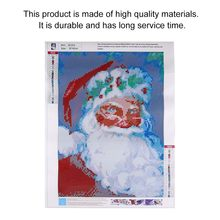 Kids Craft Painting Toy 5D Diamond Painting Set Christmas Drawing Snowman DIY Cross Stitch Paint Diamond Embroidery Rhinestone(China)