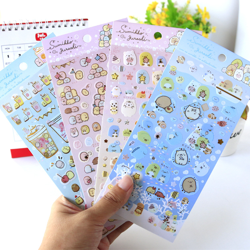 Kawaii Sumikko Gurashi Bullet Journal Decorative Stickers Scrapbooking Mobile Phone Stickers Stationery DIY Album Stickers