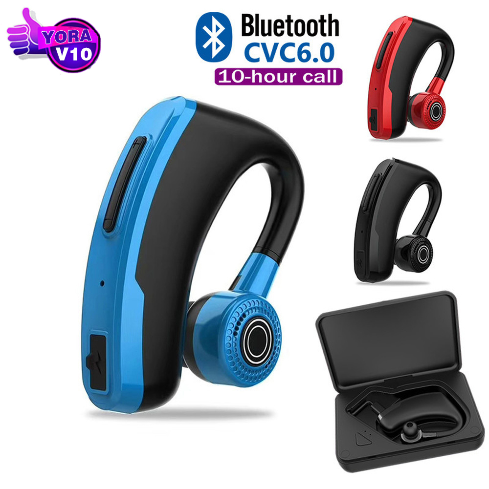 V10 <font><b>V9</b></font> Business <font><b>Bluetooth</b></font> Headphone Driver Handsfree <font><b>Earphone</b></font> with Mic Voice command Noise Cancelling For iPhone Android Phone image