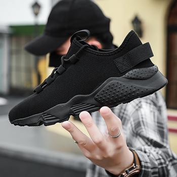 2020 nowych mężczyzna przypadkowi buty wygodne lekkie buty sportowe mężczyźni antypoślizgowe męskie buty Tenis Masculino Zapatillas Hombre Sneakers mężczyźni tanie i dobre opinie NoEnName_Null Flyknit RUBBER Lace-up Pasuje prawda na wymiar weź swój normalny rozmiar Podstawowe Lato T81-14 Stałe