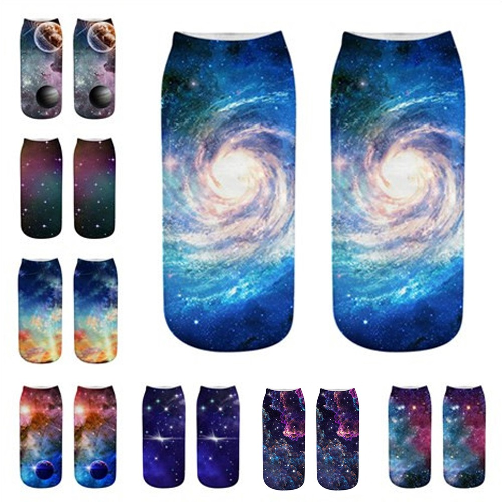 1pair / Pack 3D Cute Cartoon Party Pattern Hot Women's Sock Unisex Fashion Polyester Socks W0803