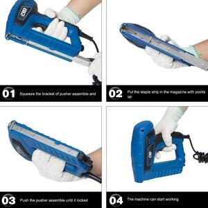 Image 4 - 2000W Electric Staple Gun 220V 240V Power Adjustable Nail Gun Furniture Woodworking Upholstery Tools Nailer Stapler PROSTORMER
