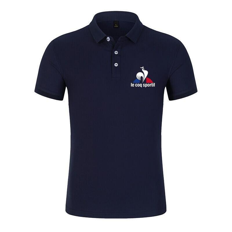 Рубашка-поло мужская хлопковая, брендовая сорочка с коротким рукавом, однотонная майка, лето
