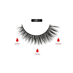 Image 3 - Magnetic Eyeliner Eyelashes Set Natural Thick Handmade No Glue Prevent Allergy Magnetic Fake Eyelashes With Eyelashes Applicator