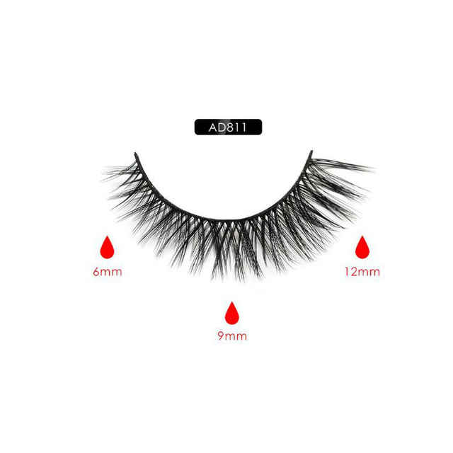 Magnetic Eyeliner Eyelashes Set Natural Thick Handmade No Glue Prevent Allergy Magnetic Fake Eyelashes With Eyelashes Applicator 2