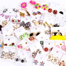Fashion 30pairs Lots Mix Styles Stud Jewelry Earrings For Women Wedding Party Gift