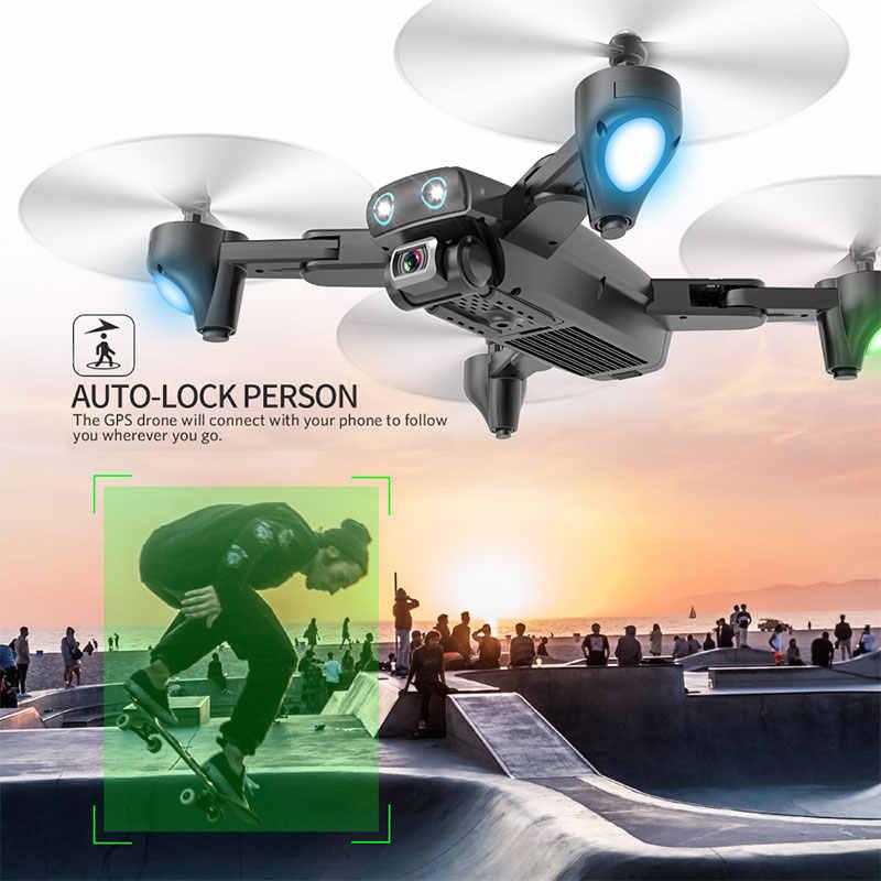 S167 2.4G/5G WIFI FPV 720 P/1080 P HD Câmera zangão gps Drones Quadcopter Dobrável RC dron com drohne VS SG906 SG106 zangão