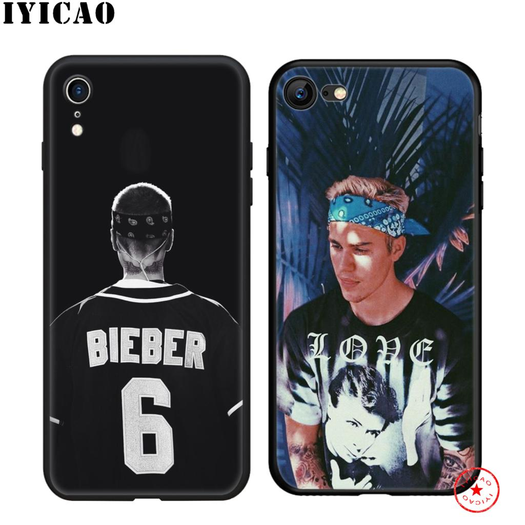 IYICAO Justin Bieber Soft Black Silicone Case for iPhone 11 Pro Xr Xs Max X or 10 8 7 6 6S Plus 5 5S SE in Fitted Cases from Cellphones Telecommunications