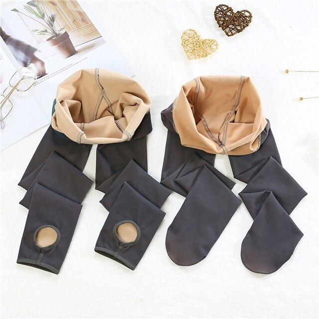 Зимние пикантные женские колготки, модные теплые высокоэластичные однотонные колготки, эластичные мягкие длинные чулки для женщин 3