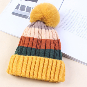 Image 4 - Winter Hüte für Frauen Hüte Kintted Mützen Frauen Hüte Warme Mützen Winter Hut Weibliche Caps Damen Warme Kintted Skullies herbst