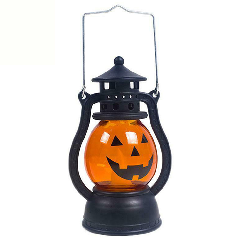 Halloween Decoration Paper LED Lantern Hanging Pumpkin Lamp Party Home Props Can CSV