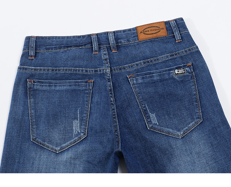 KSTUN Jeans Men Summer 2020 Blue Slim Straight Denim Pants Casual Fashion Men's Trousers Full Length Cowboys Male Jeans Hombre 14