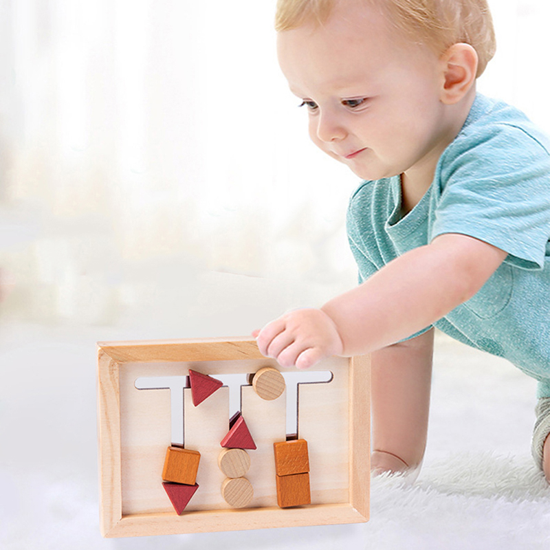 Wooden Montessori Baby Cognitive Toys Three Colors Sorting Array Game For Early Childhood Education Preschool Training Learning