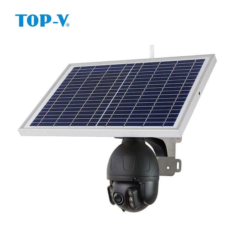 Câmera solar impermeável exterior do cctv da bateria de ptz do rastreamento automático de 1080 p 4g