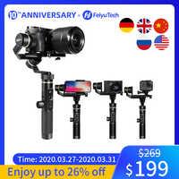 FeiyuTech Feiyu G6 Plus 3-Axis mango a prueba de salpicaduras Gimbal estabilizador para cámara de bolsillo sin espejo GoPro Hero 6 5 Smartphone
