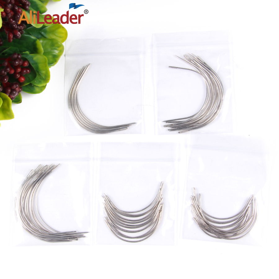 Curved-Needle Wigs Hair-Extension Alileader Wholesale for Cap 12pcs/Pack 6cm/9cm