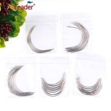 Оптовая продажа изогнутых игл Alileader для плетения волос, париков, иглы для наращивания волос, 12 шт./упак. 6Cm/9Cm C-Type инструменты для игл