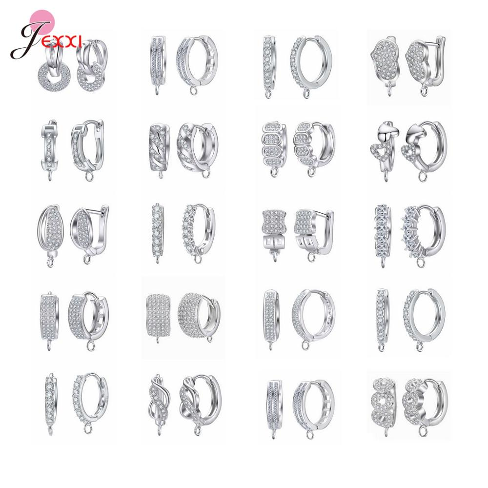 New Arrivals Best Price Genuine 925 Sterling Silver Earring Findings Fashion Women Jewelry Components Beautiful DIY Jewelry