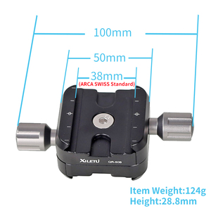 Image 2 - XILETU QR 50B Tripod Head Clamp Two Way Type Clamp For ARCA SWISS