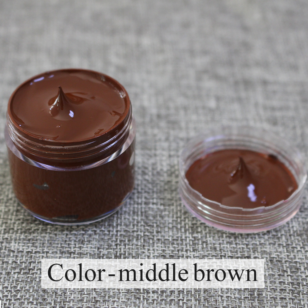 Middle Brown Leather Coloring Paste 30ml For Leather Sofa Bag