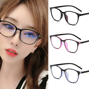 2020 Trends Office Anti Blue Light Oversized Glasses Computer Women Blue Blocking Gaming Retro Round Men Eyeglasses Frame New image