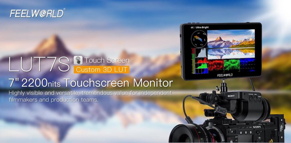 FEELWORLD Monitor LUT7S 7 Zoll 2200nits 3D LUT Touchscreen DSLR Kamera Feld Monitor mit Wellenform VectorScope mit geschenke