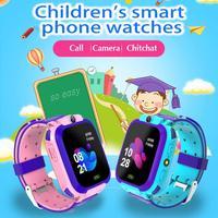 Novo q12 relógio inteligente lbs criança smartwatches relógio de bebê 1.44 Polegada chat voz localizador gps rastreador anti perdido monitor com caixa