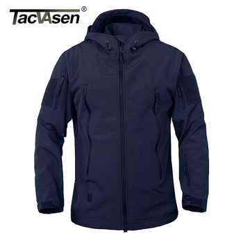 TACVASEN Army Camouflage Men Jacket Military Tactical Jacket Men Fleece Softshell Waterproof Windproof Hunt Airsoft Jacket Coat - DISCOUNT ITEM  20 OFF Men\'s Clothing