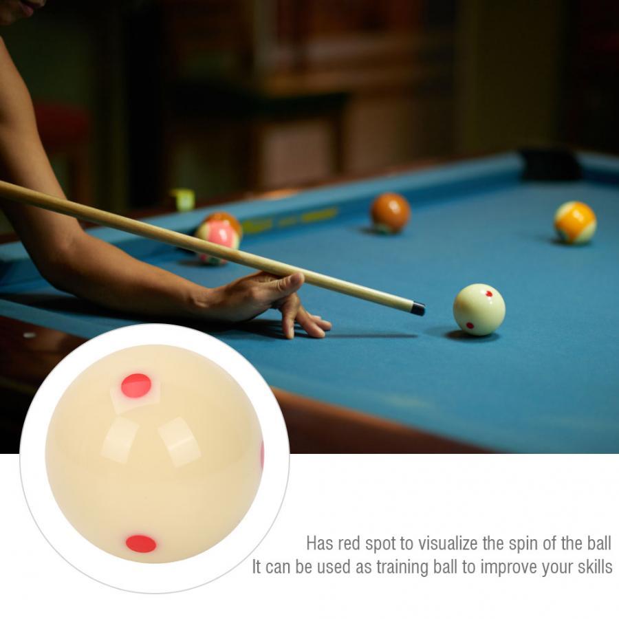 5.72cm Portable Resin Billiard Training Ball Red Dot-Spot Practice Pool Balls