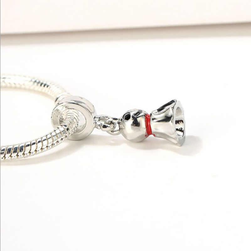 1pc French Bulldog Bijoux Sieraden Bracciale Charms Fit สร้อยข้อมือ Pandora เดิมน้ำหอม Mujer เครื่องประดับ Charm