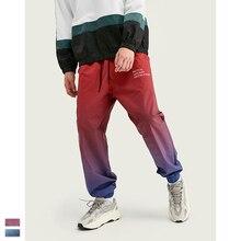 Cooo Coll 19FW men women long pants kanye west Gradient color matching hip hop streetwear  Jogging trousers sweatpants