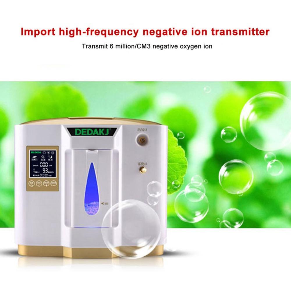 Портативный размер Ho использовать держать использовать медицинский кислородный концентратор в режиме реального времени 6L Регулируемый ум...