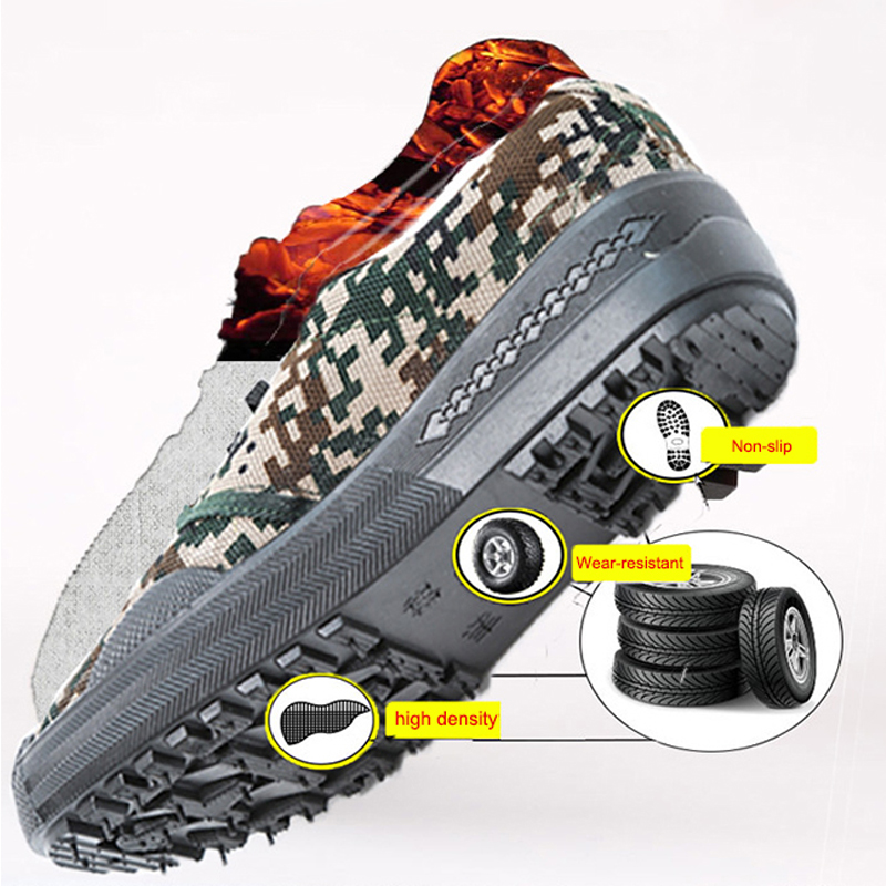 Camouflage Liberation Shoes Men Non-slip Wear-Resistant Working Shoes Man Women Large Size 34-45 Low-top Military Training Shoes