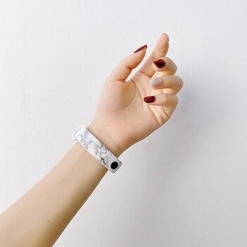 Ремешок силиконовый с граффити питона для Xiaomi Mi Band 6