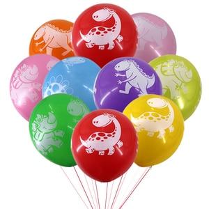 Image 5 - لوازم حفلات الديناصور لدينو كعكة القبعات العالية بالونات الديناصورات ملصقات الوشم ديكور ديناصور ديكور الحدث لوازم الحفلة للأطفال