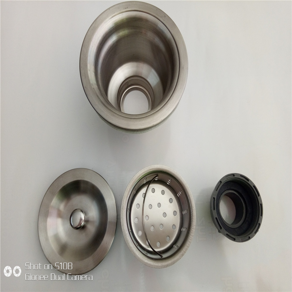 Stainless Steel Kitchen Double Sink Down Pipe Washing Basin S-Shaped Deodorizing Sewer Pipe Drainage Water Extractor Accessories