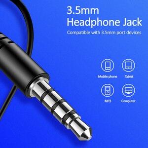 Image 4 - USAMS douszne słuchawki 3.5mm metalowe Hifi przewodowy zestaw słuchawkowy z mikrofonem Stereo przewodowe słuchawki douszne z mikrofonem zestaw słuchawkowy do iphonea Huawei xiaomi