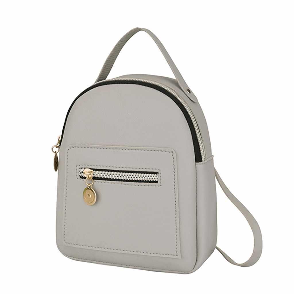 Mini Rucksack Frauen PU Leder Schulter Tasche Für Teenager Mädchen Kinder Multi-Funktion Kleine Bagpack Weibliche Damen Schule Rucksack