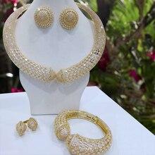 GODKI 럭셔리 파티 뱀 4PCS 나이지리아 보석 여성을위한 설정 결혼식 지르콘 인도 아프리카 신부의 보석 세트 2018