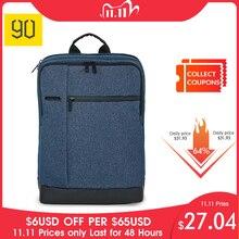Oryginalny 90FUN klasyczny biznes plecak nastolatki torba duża pojemność plecak szkolny studenci torby nadaje się do 15 cal laptopa