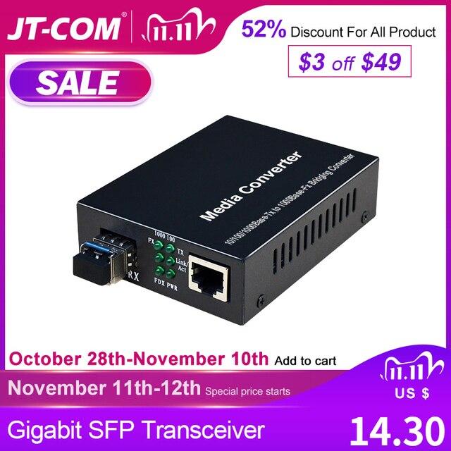 1Gb SFP סיבי כדי RJ45 סיבים אופטי מדיה ממיר 1000Mbps SFP סיבי מתג עם SFP מודול תואם סיסקו/Mikrotik/Huawei