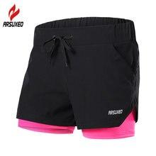 Женские шорты для бега arsuxeo 5 цветов 2 в 1 дышащие быстросохнущие