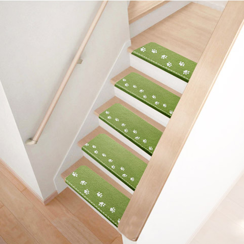 Luminous Step Stair Mat Carpet Staircase Floor Mats Easy To Clean | Hardwood Steps For Stairs | Modern White Oak Stair | Cover | Iron Baluster | Unfinished | Staircase