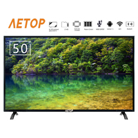 free shipping android tv explosion proof 50 inch flat screen led 4k hd television smart tv with wifi